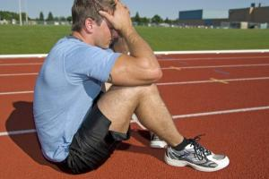 frustrated athlete